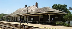 Deerfield station - Image: Chicago, Milwaukee and St. Paul Railway Passenger Depot