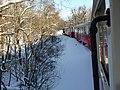 Children's railway, Budapest at winter 02.jpg