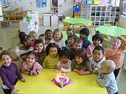 Multi-ethnic children in a Primary Education School in Paris
