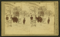 Children in the winter in front of a house, from Robert N. Dennis collection of stereoscopic views.png