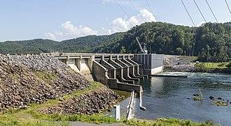 Chilhowee Dam - Chilhowee Dam in 2017