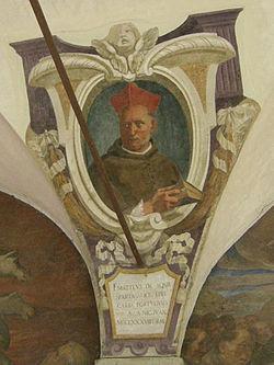 Chiostro di ognissanti, personalità francescane 09 matteo d'acquasparta.JPG