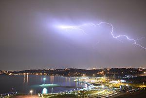 Chitgar Lake - Image: Chitgar Lake lightning Tehran