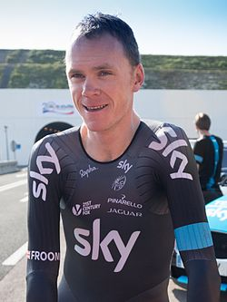 Chris Froome - The First Man to Cycle through the Eurotunnel (14593593775) (cropped).jpg