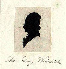 Schattenriss Weinligs (Quelle: Wikimedia)