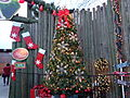 Christmas tree Tiger's Village 1 2015, Wild Adventures.JPG