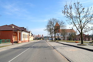 Church of Saint Nicholas, Red Army str., urban settlement Mir, Kareličy raion, Grodno Region, Republic of Belarus 02.JPG