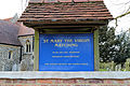Church of St Mary Matching Essex England - exterior sign board.jpg
