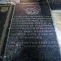 Church of St Nicholas, Ash-with-Westmarsh, Kent - Dame Elizabeth Peke ledger stone.jpg