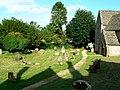 Churchyard, St Nicholas' church, Asthall - geograph.org.uk - 862896.jpg