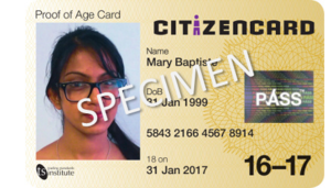 CitizenCard - CitizenCard photo ID card for 16 to 17s