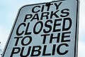 City Parks Closed to the Public Sign (25266592570).jpg