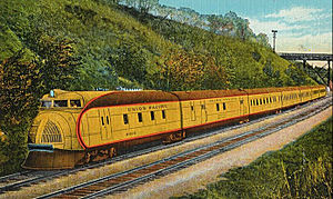 City of Portland (train) - Image: City of Portland postcard Union Pacific Railroad