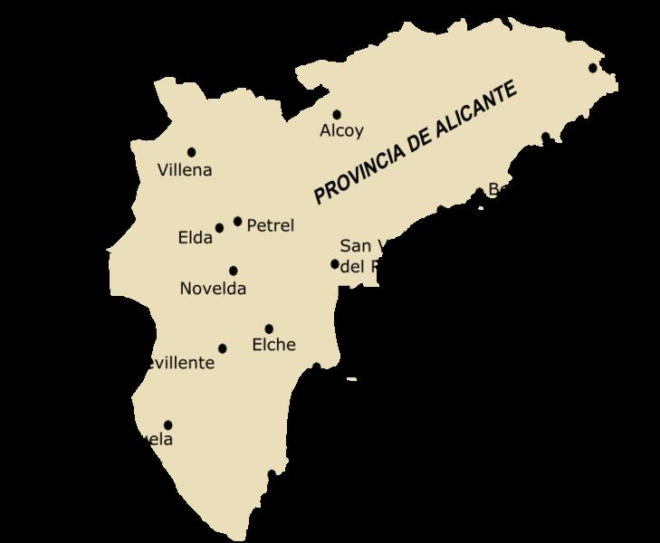 Mapa Provincia De Alicante.Provincia Alicante Mapa Mapa
