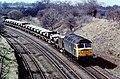 Class 47 top of Hatton Bank 1985 (31023676835).jpg