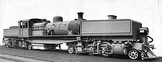 South African Class FC 2-6-2+2-6-2 - Class FC no. 2310, later renumbered 670, c. 1925