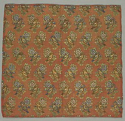 Taffeta Fragment with Gul-u-Bulbul (Rose and Nightingale) Pattern
