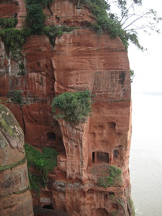 Leshan Giant Buddha - Image: Cliff Side Leshan Giant Buddha