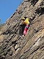Climbing on southern bohemian gneiss, Sedmý špic near Český Krumlov.jpg