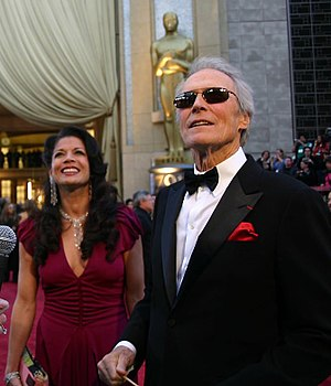 Personal life of Clint Eastwood - With his (now former) wife Dina in 2007