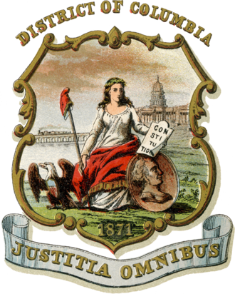 Coats of arms of the U.S. states - Image: Coat of arms of the District of Columbia (1876)