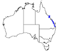 Coelocion australis map.png