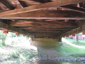Cogan House Covered Bridge - Underside of the bridge looking west