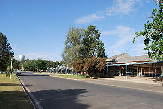 Coleambally Town in New South Wales, Australia