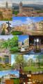 Collage de la ciudad de Gerona, Cataluña, España.png