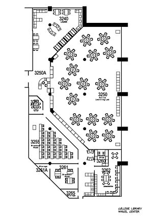Wayfinding - College Library Blueprints