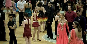 Ballroom dance - People on the dance floor waiting to dance and compete.