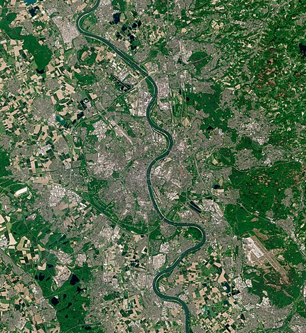 Cologne, seen from ESA Sentinel-2