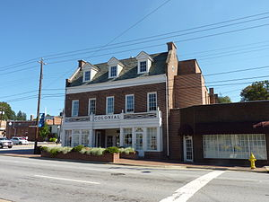 National Register of Historic Places listings in Haywood County, North Carolina - Image: Colonial Theater Canton NC