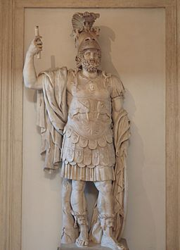Colossal statue of Mars, end of 1st century AD, from the Forum Transitorium in Rome, Capitoline Museums (12879072994)