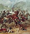 Combat entre le 14e dragons légers et des hussards français dans les Pyrénées en 1813.jpg