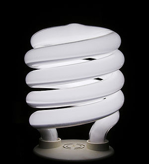 Gas-filled tube - A compact fluorescent bulb is a household application of a gas-filled tube