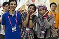 Computex Taipei international visitors with nekomimi 20130608.jpg