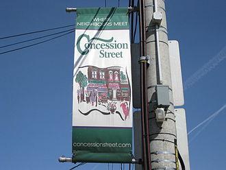 Concession Street (Hamilton, Ontario) - Concession Street banner