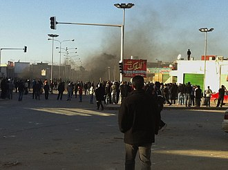 First Battle of Benghazi - Image: Confrontation between rebels and al Gaddafi in Al Bayda (Libya, 2011 02 17)