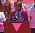 Congresswoman Pelosi at the Friends of the Pink Triangle Ceremony (8281364821) (cropped).jpg