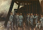 Constantin Meunier - Descent of the miners into the shaft