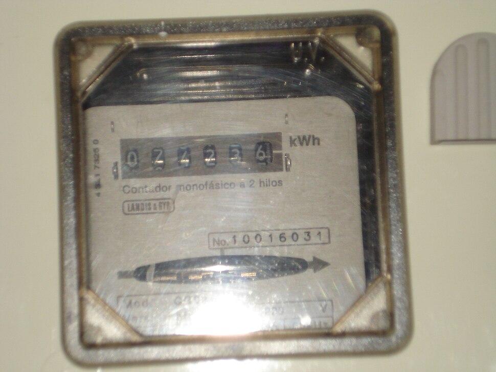 Contador doméstico de electricidad