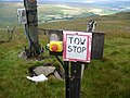 Control gear and pylon on ski tow at Yad Moss - geograph.org.uk - 1444990.jpg