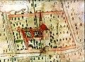 Convento dell'Annunciata Medole Mantova Veduta a volo d'uccello sec. XVIII.jpg