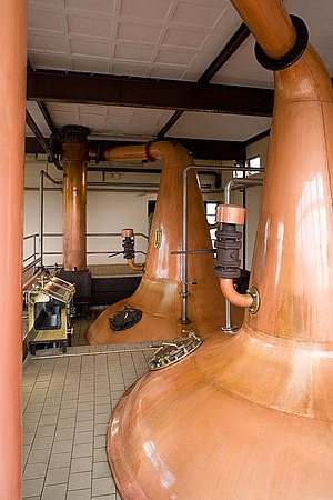 Cooley Distillery - Cooley's copper pot stills