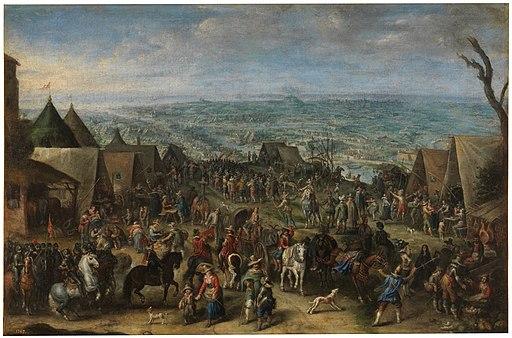 Cornelis de Wael - Siege of Ostend