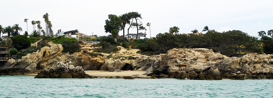 Corona del Mar Cliffs in Newport Beach, California