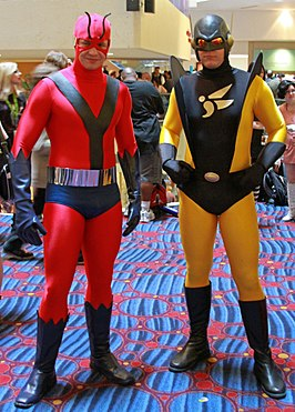 Cosplay Ant-Man en Yellowjacket tijdens Dragon Con 2012.