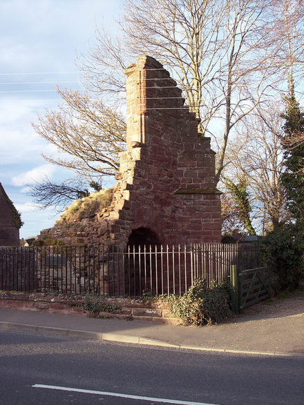 What remains of the gatehouse of Coupar Angus Abbey, the latter's only standing ruins today Coupar Angus Abbey.jpg