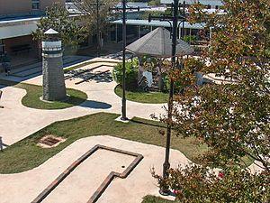 Grace King High School - Grace King courtyard and putt-putt course